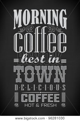 Poster lettering take coffee