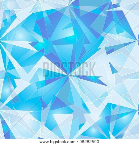 Abstract Polygonal Ice Background.