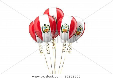 Peru Patriotic Balloons,  Holyday Concept