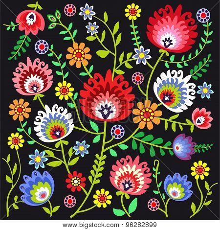 Folk pattern flowers