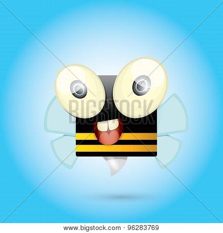 cartoon cute bright baby bee. vector