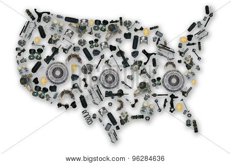 Spare parts map of america