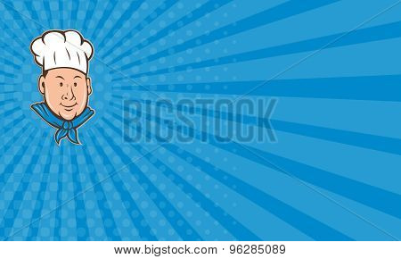 Business Card Chef Cook Happy Isolated Cartoon