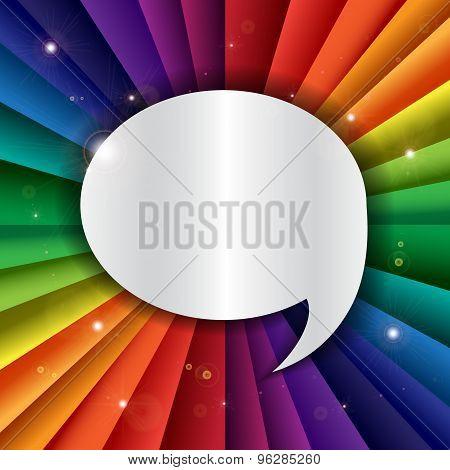 Bright Vector Rainbow Celebration Holiday Banner