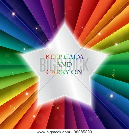 Bright Vector Rainbow Celebration Holiday Banne,  Keep Calm And