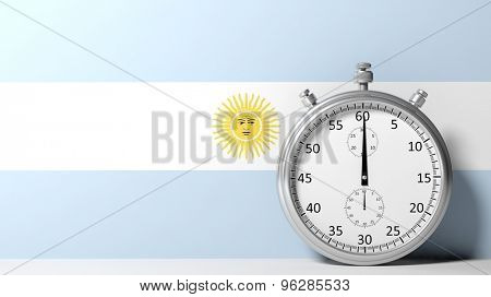 Flag of Argentina with chronometer