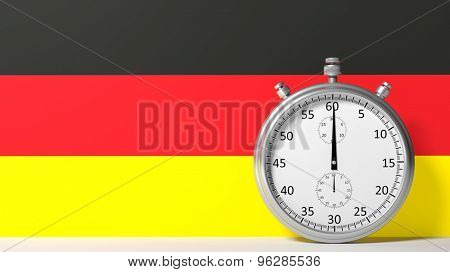 Flag of Germany with chronometer