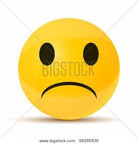 yellow sad face