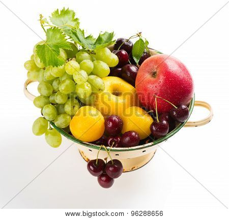 Various Fruits In Colander