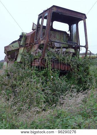 Rusty Combine Harvester