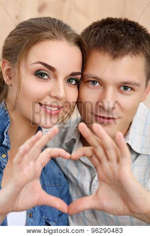 Portrait Of Beautiful Smiling Couple