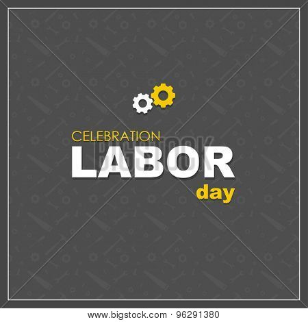 Labor Day logo Poster, banner, brochure or flyer design with stylish text Happy Labor Day . Creative artwork