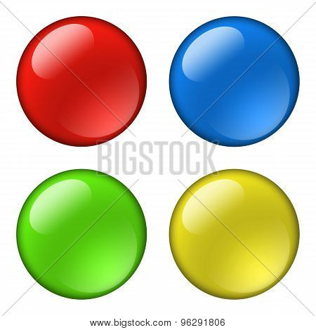 Glossy round buttons for icons
