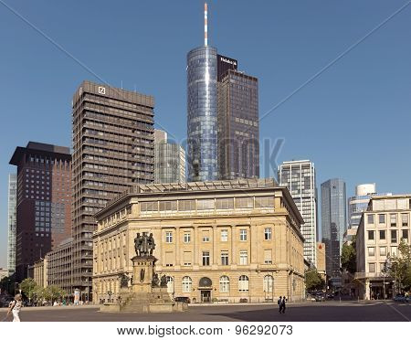 Deutsche Bank And Main Tower Skyscraper