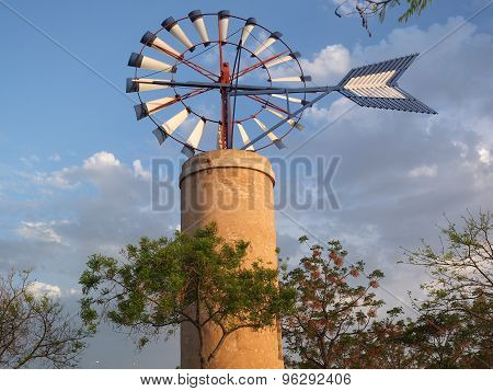 Windmill At Island Of Majorca In Spain