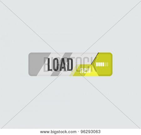 Load button, futuristic hi-tech UI design. Website, mobile applications icon, online design, business, gui or ui