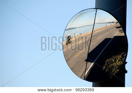 Road Mirror On Alki Bach Drive