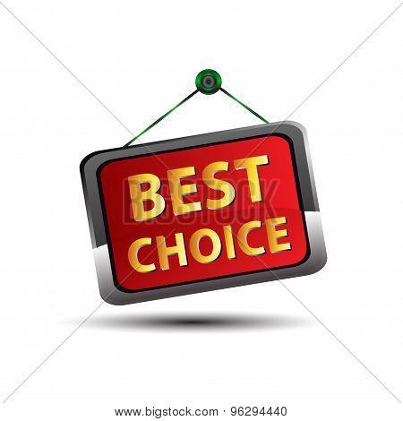 Best choice iconlabel design vector illustration template.