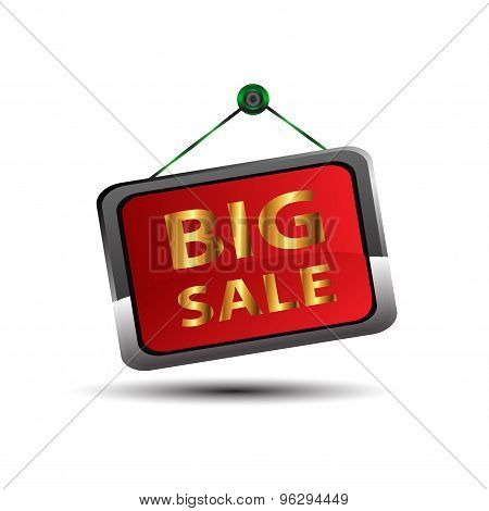 Big sale icon vector design illustration template.