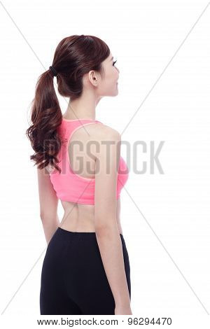 Back View Of Sport Woman