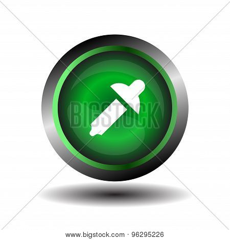 Color picker button sign vector