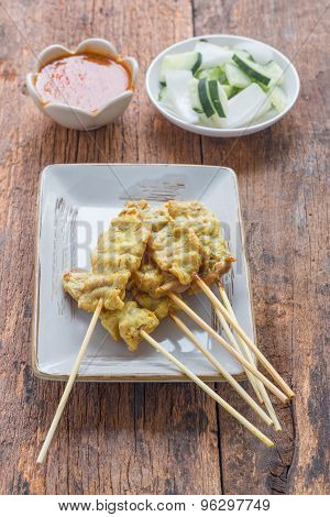 Pork Satay, Traditional Thai Steak Roasted Pork