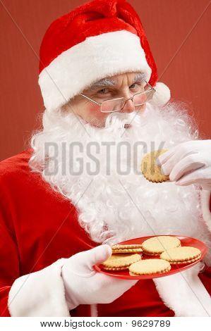 Santa Eating