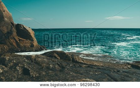 Beautiful Seascape, Rocky Coastline