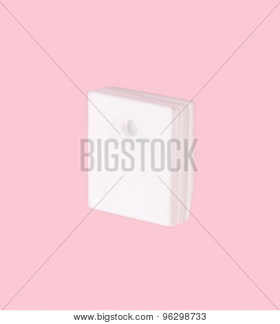 Ceramic Insulator On Isolated Pink Background
