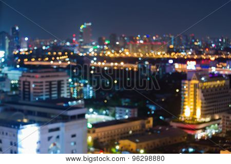Cityscape at twilight time, Blurred Photo bokeh