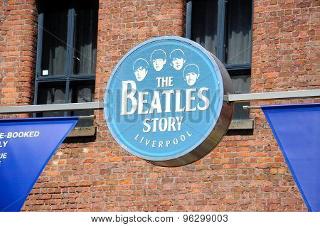 The Beatles Story Liverpool sign.
