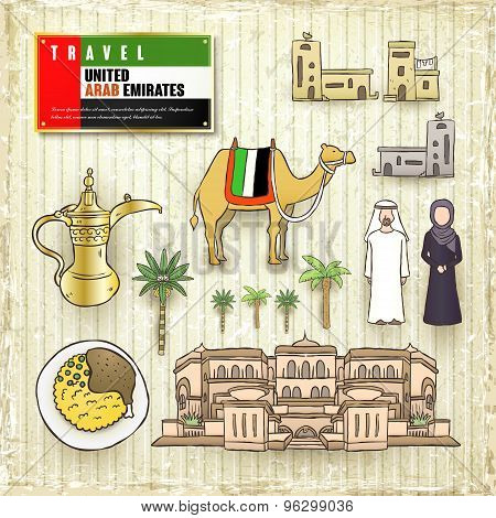 Travel Concept Of United Arab Emirates