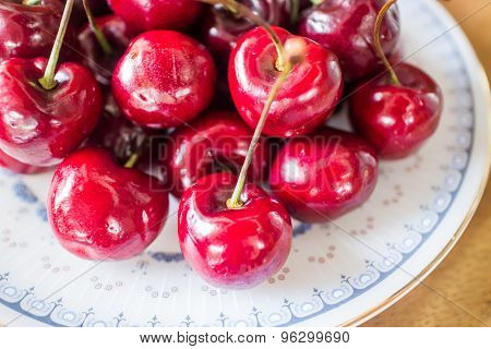 Sweet Ripe Fresh Cherry Berries