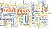 stock photo of hemorrhage  - Background concept wordcloud illustration of head injury - JPG