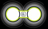 pic of ampersand  - Two colored circular frames for your text and ampersand - JPG