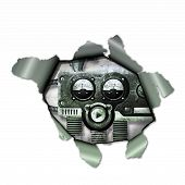 pic of observed  - A Cyborg observed through a torn paper - JPG
