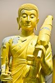 pic of buddhist  - The Monk Statue in the Buddhist Temple - JPG