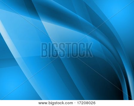 Abstract blue waves background, 3d rendering