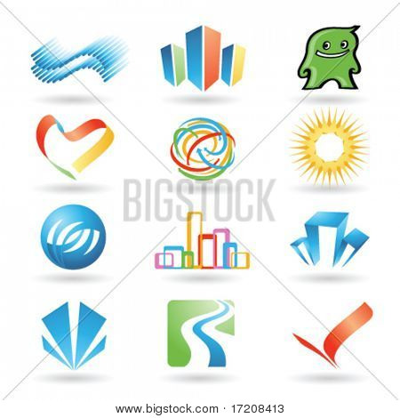 Set of vector design elements 10