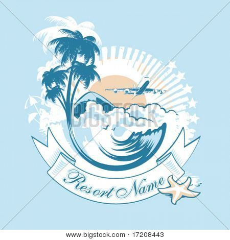Tourism, vector illustration