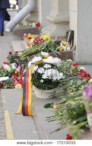 Flowers near Oktyabrskaya Metro Station