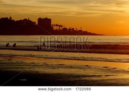 Night Ocean. Post Card