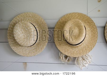 Two Hats Hanging