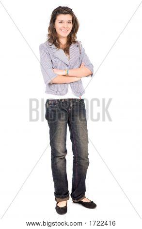 Beautiful Teenage Girl Standing