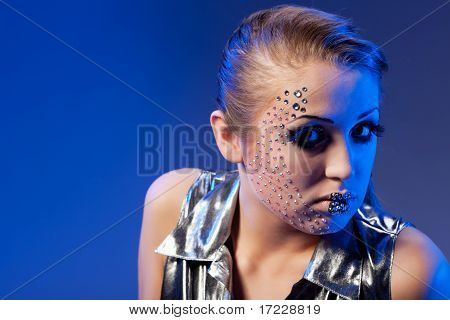 woman with crystal glamour