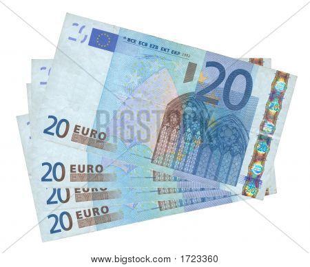 Four Euro Banknotes