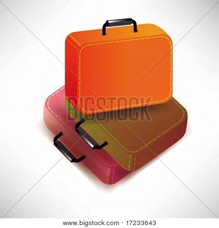 maletas de Vector aislados sobre fondo blanco