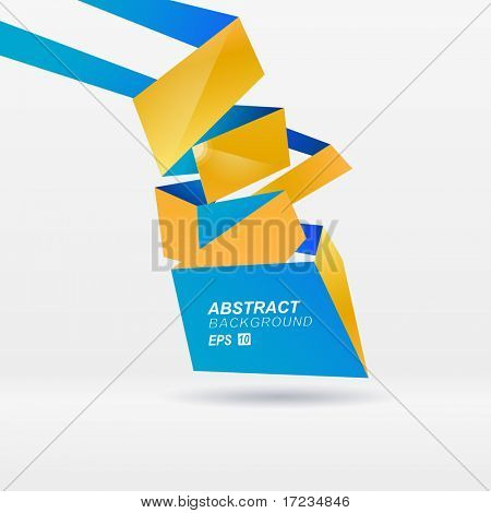 Modern vector origami background for you presentation