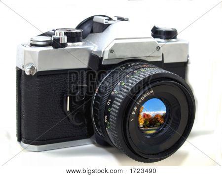 Camera W Scene In Lens