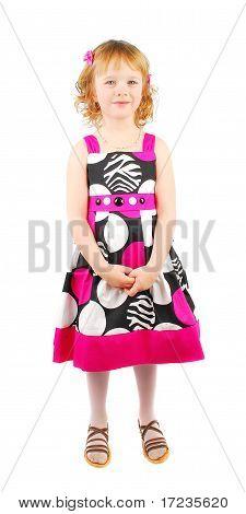 Menina na moda vestido.